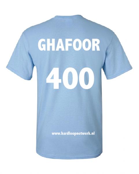 T-shirt Ghafoor lichtblauw