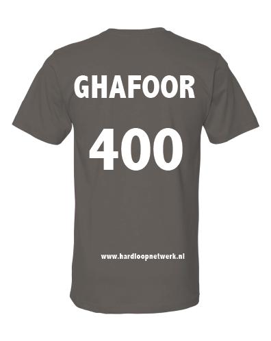 T-shirt Ghafoor donkergrijs