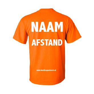 T-shirt gepersonaliseerd oranje